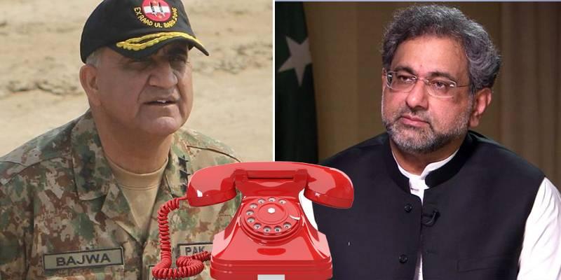 COAS Bajwa suggests PM Abbasi handle Islamabad sit-in 'peacefully'