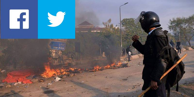 Faizabad Operation: PEMRA bans live coverage, social media across Pakistan