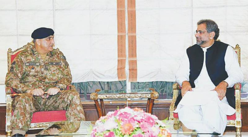 PM Abbasi, COAS Bajwa agree to avoid use of force against Islamabad protesters