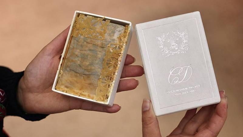 Slice of Princess Diana's wedding cake up for auction