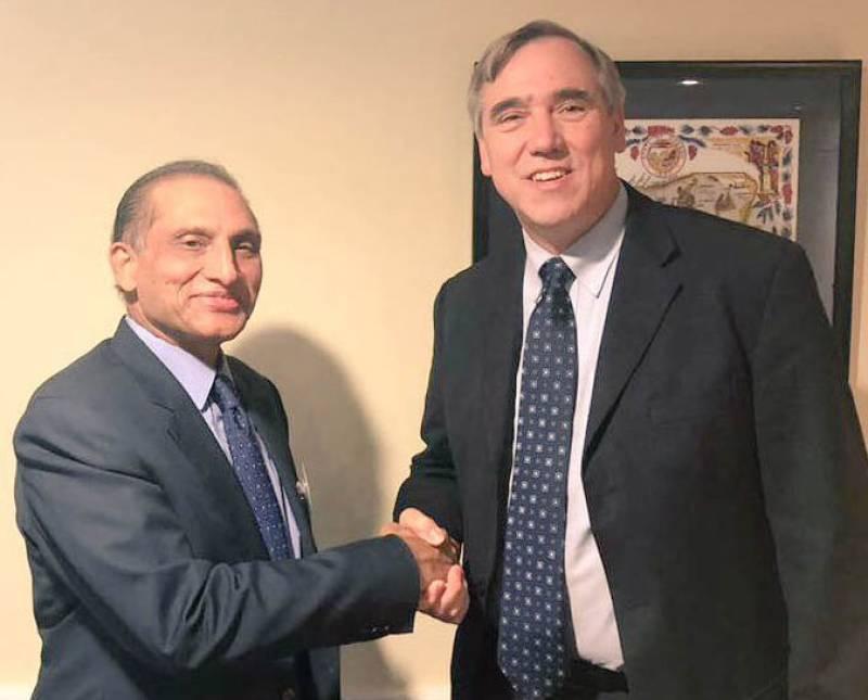 Aizaz meets US Senator Merkley, says Pakistan made great strides in fight against terrorism