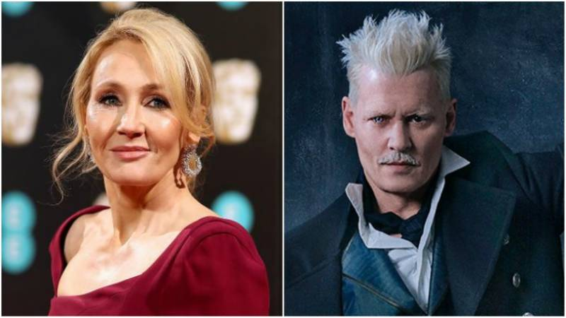 Harry Potter's author defends casting Johnny Depp in 'Fantastic Beasts 2'