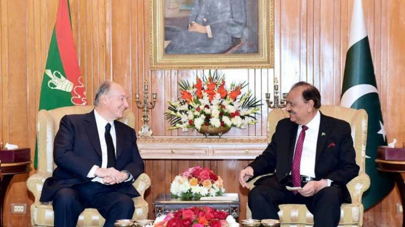 President Mamnoon,PM Abbasi laud Prince Karim's services for peace & stability