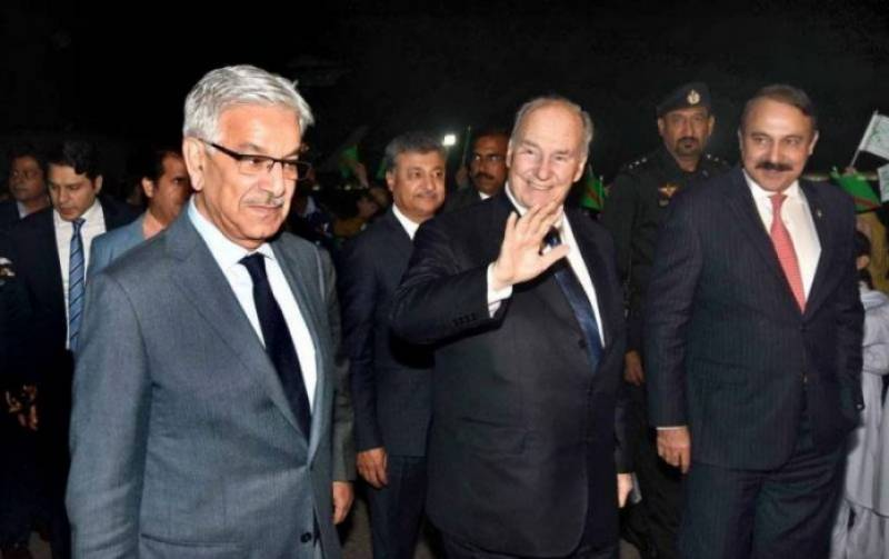 Prince Karim Aga Khan arrives in Islamabad on state visit