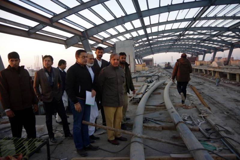 CM Shehbaz pays surprise visit to Orange Line Metro Train sites