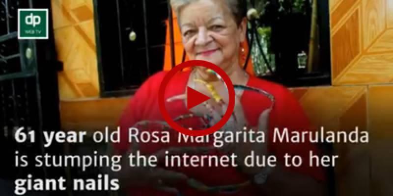 Meet Rosa Margarita Marulanda with four inches long nails
