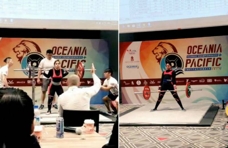 Pakistani female powerlifters secure gold at international competition in Singapore