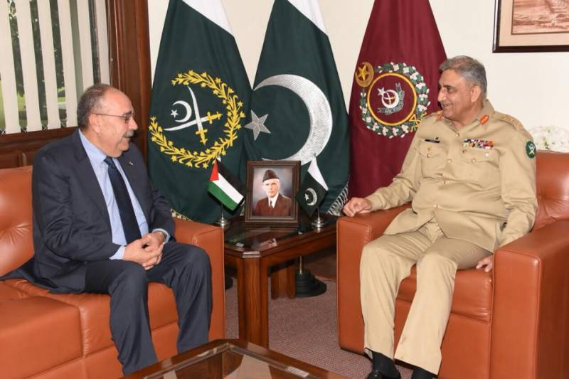 Pakistan views Palestine issue at par with Kashmiris' plight, Gen Bajwa assures envoy