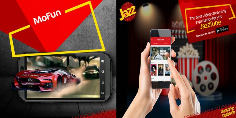 Jazz attracts shoppers in Islamabad with JazzTube, Mofun apps