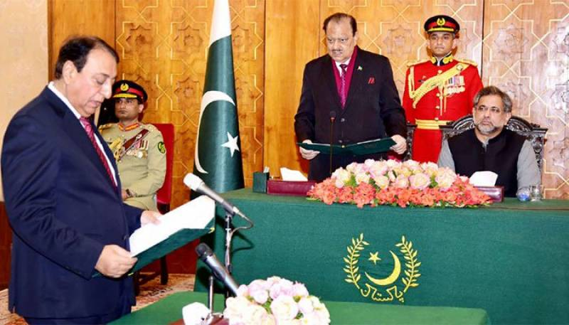 Rana Afzal sworn in as state minister for finance