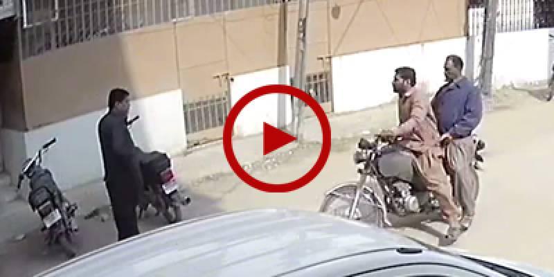 Karachi: CCTV footage of snatching in broad daylight