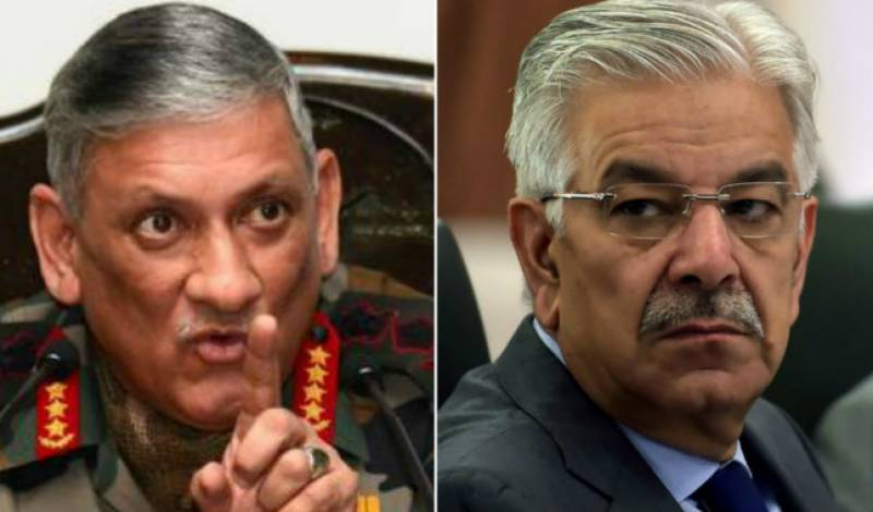 Test our resolve if you desire, Khawaja Asif to Indian army chief