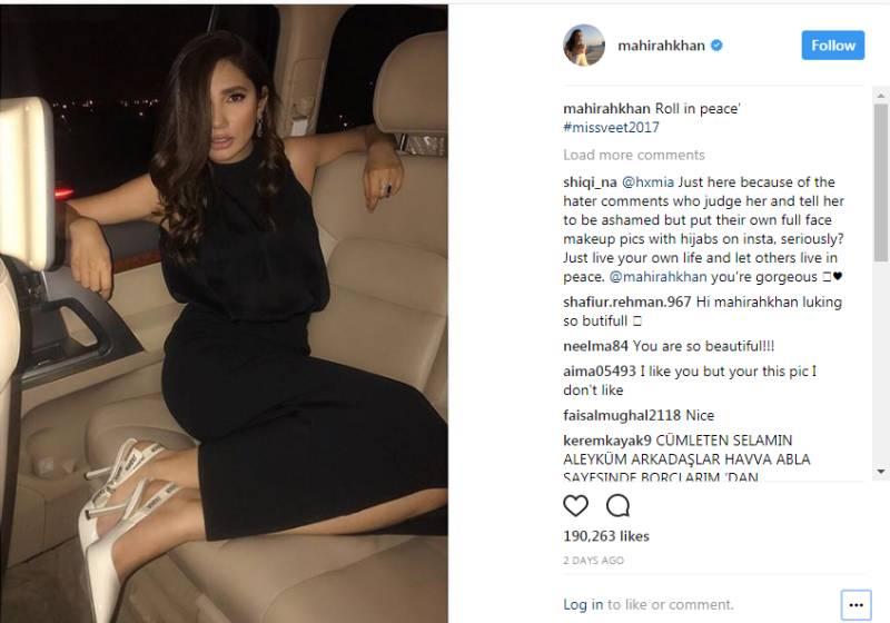 Pakistani 'ghairat brigade' once again slut-shames Mahira Khan over Instagram post