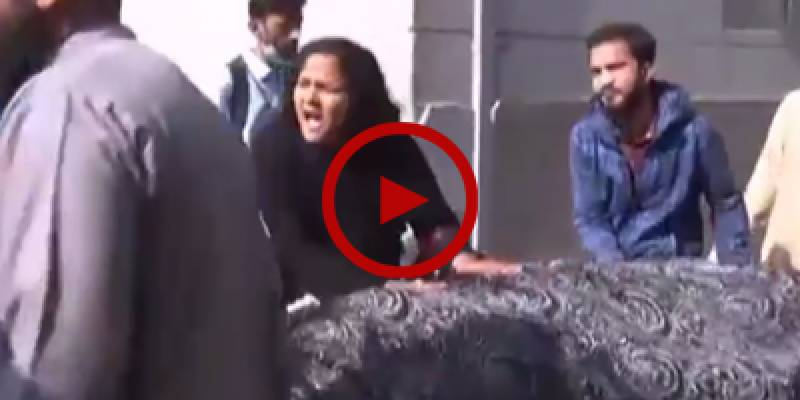 Sister of Karachi shootout victim protests against police brutality in Sindh