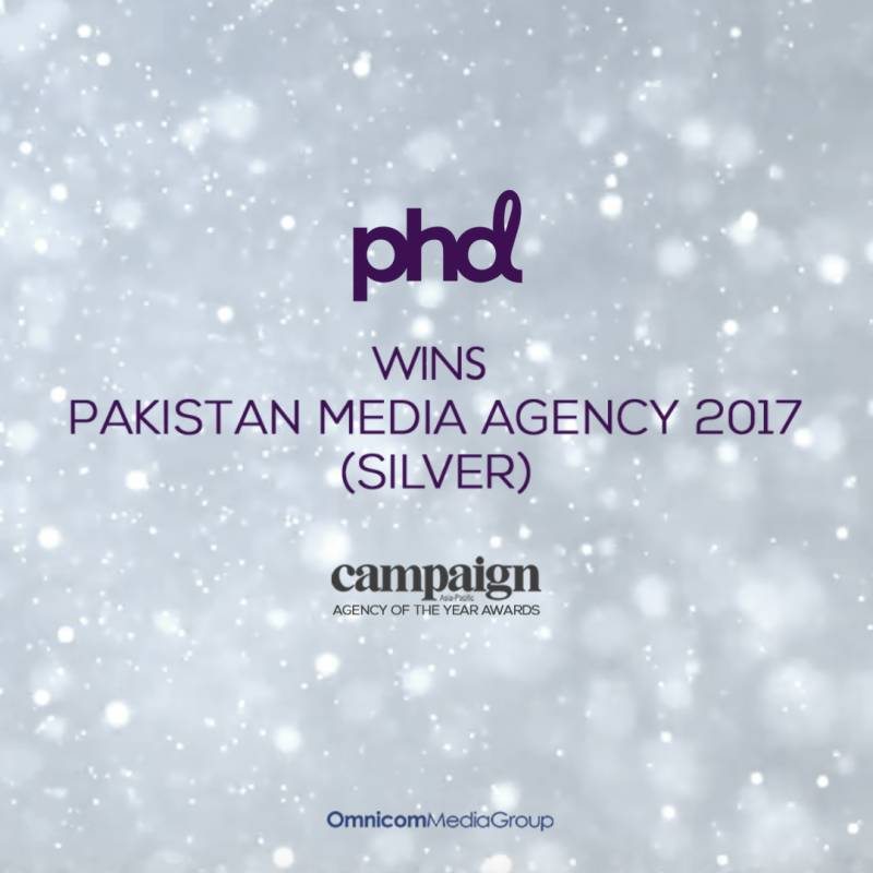 PHD Pakistan wins silver at Campaign Asia's 'Media Agency of the Year' Awards 2017