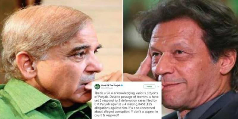 Punjab govt defends CM Shehbaz against Imran Khan's Twitter attacks