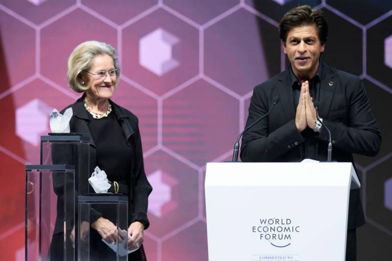 Shah Rukh Khan honoured with human rights award at World Economic Forum