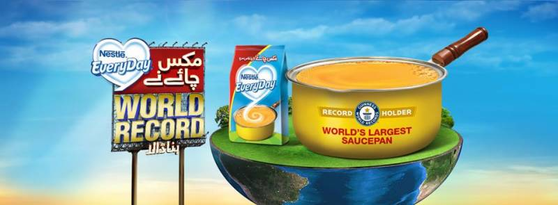 NESTLÉ EVERYDAY Pakistan sets the KHAAS World Record for the love of mix chai