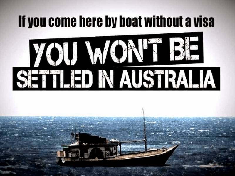 Australia tightens maritime border for illegal immigrants- issues warnings in 17 languages including Urdu