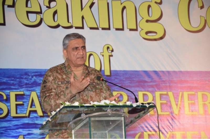 Army chief lays foundation stone of Gwadar desalination plant, links Pakistan's prosperity to Balochistan
