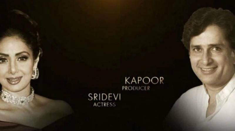 Veteran actors Shashi Kapoor and Sridevi honoured during 'Oscars' in Memoriam'
