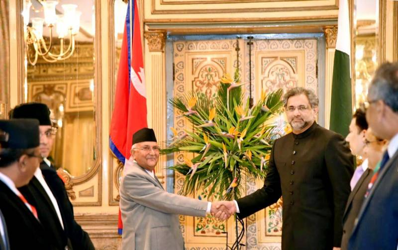 PM Abbasi heads home with resolve to strengthen Pak-Nepal ties under CPEC