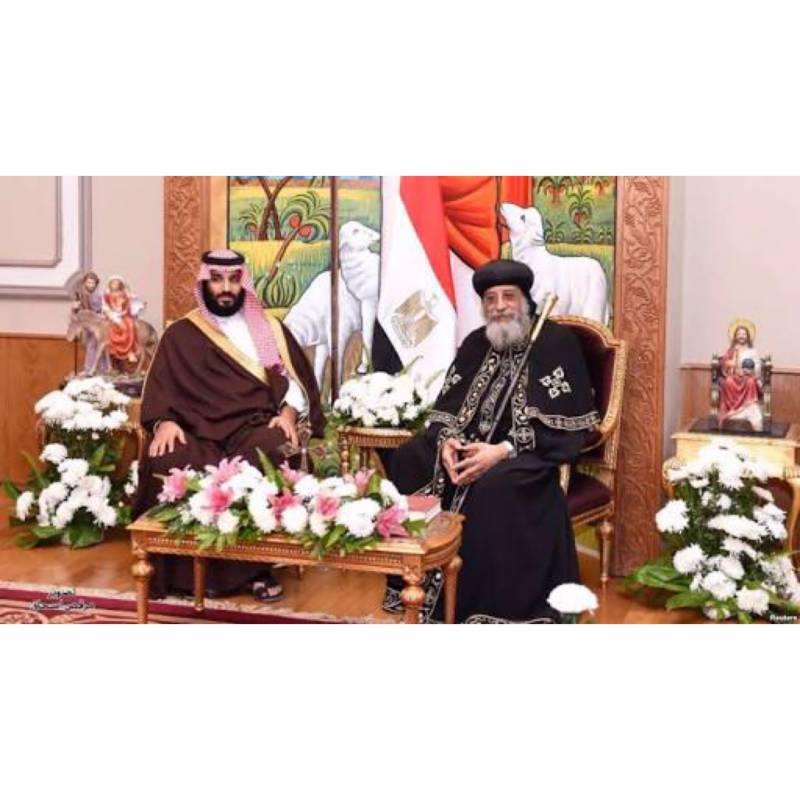 Saudi Prince Mohammad Bin Salman becomes the first ever royal to visit Coptic cathedral
