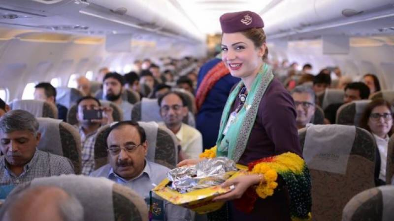 VIDEO: PIA celebrates 'Spring' on board with dance & gifts to woo passengers
