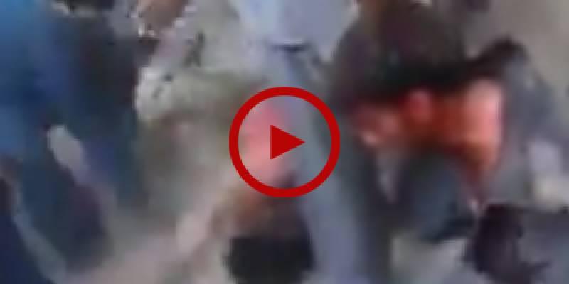 Brutal street justice handed to robbers caught red-handed in Okara