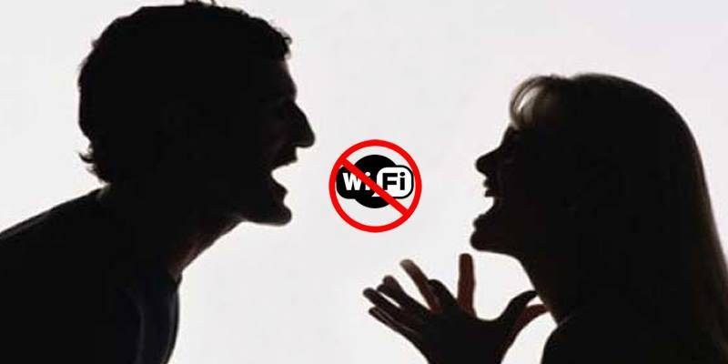 Indian man punches wife for disconnecting Internet