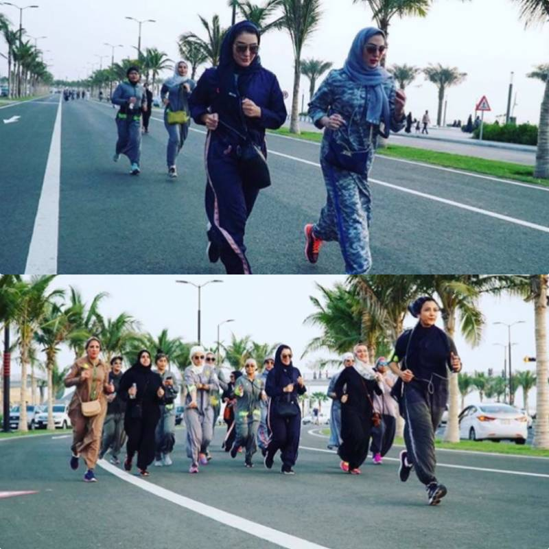 Saudi women are expressing their newfound freedom by jogging around the roads of Jeddah