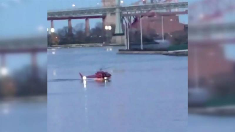VIDEO: Helicopter crash kills five in New York City