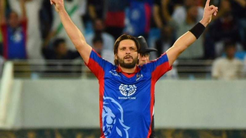 Shahid Afridi to miss today's PSL match due to injury