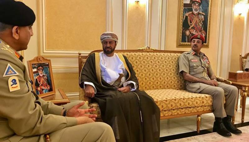 Army chief, Oman's defence minister discuss security cooperation