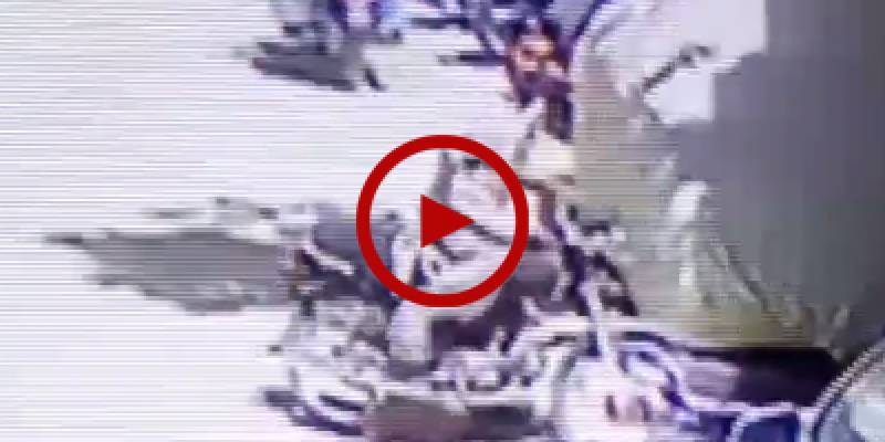 CCTV footage of motorcycle robbery in Karachi