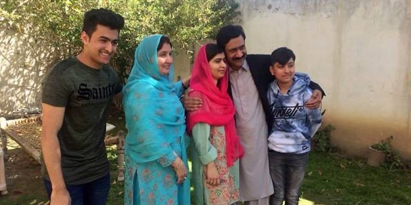 Malala lands in Swat valley to visit home after six years