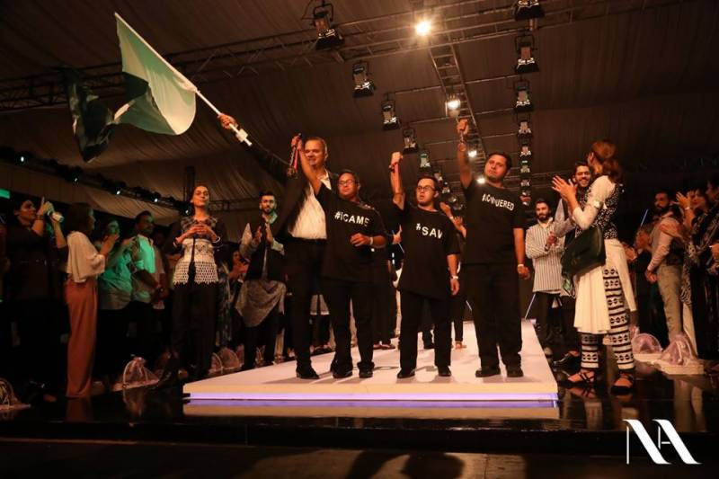 Nauman Arfeen delivers a special message by featuring children from Special Olympics Pakistan at FPW 2018