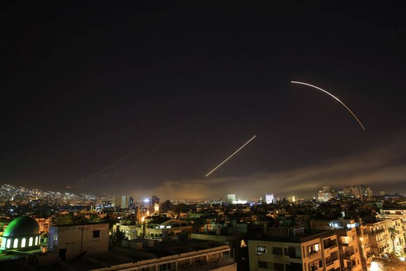 Massive explosions rock Damascus as Western allies strike Syria