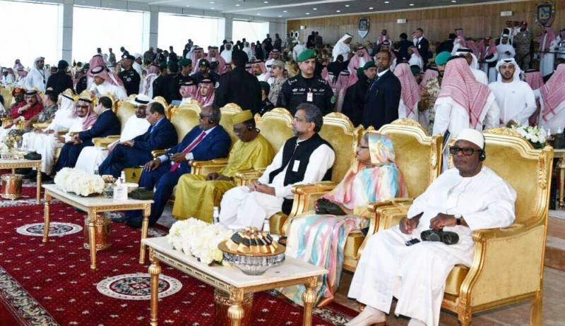 PM Abbasi attends closing ceremony of joint military exercise Gulf Shield-1, holds meetingwithSaudi King