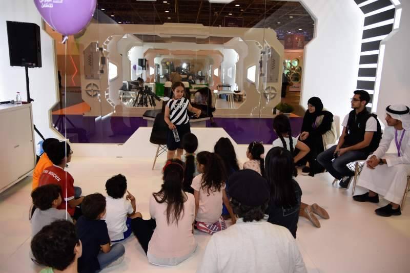 Children learn acting techniques during Sharjah Children's Reading Festival