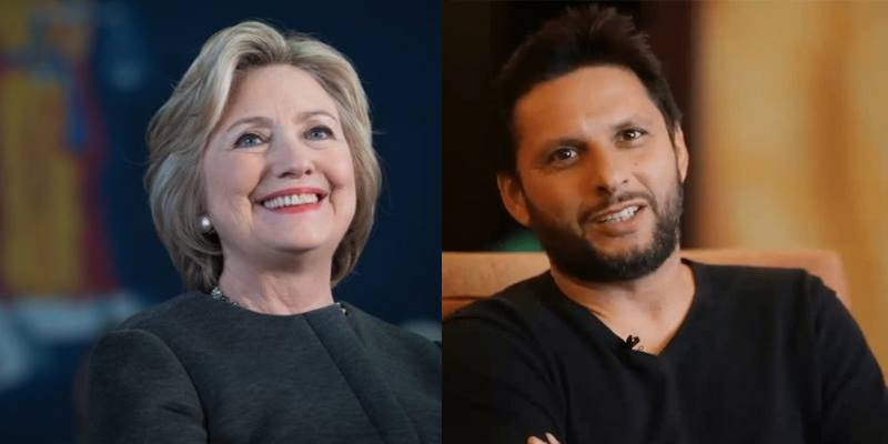 After Justin Trudeau, Hillary Clinton lavishes praise on Shahid Afridi for social welfare