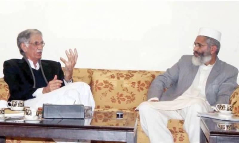 CM Khattak requests JI to change decision of leaving KPK govt