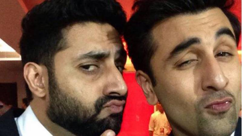 Ranbir Kapoor and Abhishek Bachchan try to achieve the perfect pout in Instagram post