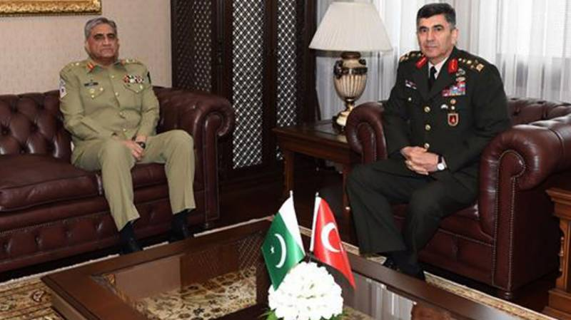 Pakistan, Turkey army chiefs discuss regional security & bilateral defence cooperation