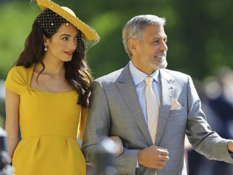 Guests arrive at Windsor Castle for the Royal wedding, The Clooneys and the Beckhams arrive