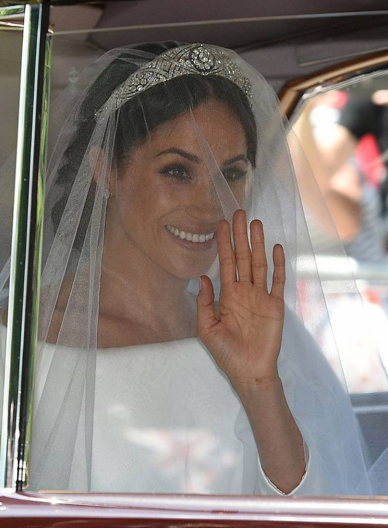 Meghan Markle gives the ultra modern royale bride feel in her Givenchy wedding dress