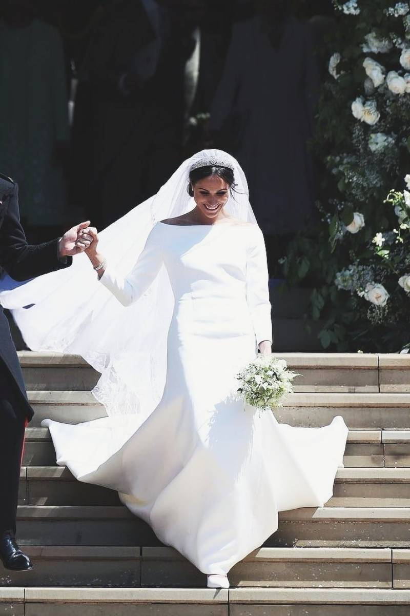 Royal wedding: Meghan Markle's veil features Jasmine from Pakistan