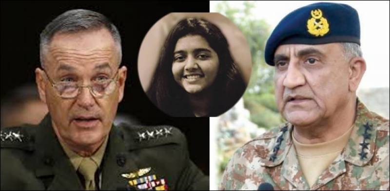 Top US military commander condoles Pakistani student's death with COAS Bajwa