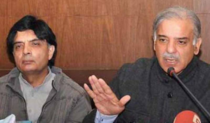 CM Shehbaz hopeful of resolving conflict with 'childish' Ch Nisar