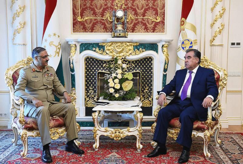 Gen Hayat, President Tajikistan discuss political& military situation in Afghanistan